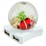 Un Hub USB avec une boule de cristal