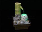Fontaine USB bambou illuminée