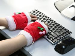 Gants chauffants usb Noël