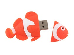 Clé usb poisson clown